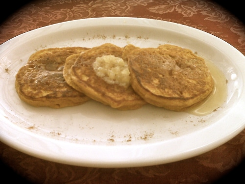 pumpkin pancakes with ginger butter