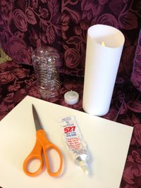 inexpensive LED candles to make