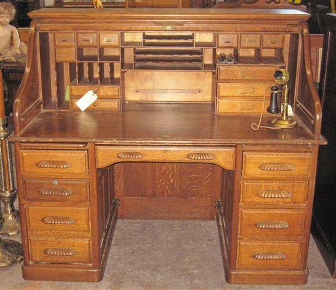 Pattin auction rolltop desk