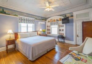 King Bed in Christy Room at Bottger Mansion