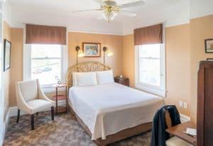 Bed in Rodey Room at Bottger Mansion