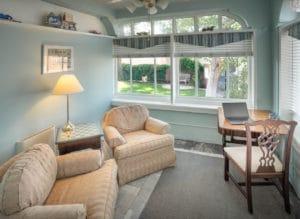 Sitting Room in Route 66 Room at Bottger Mansion