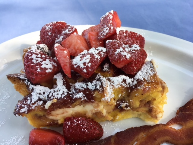 strawberries and cream french toast squares