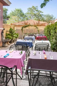 Outdoor Breakfast Area at Bottger Mansion