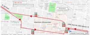 downtown Albuquerque map