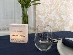 table setting with luminaria